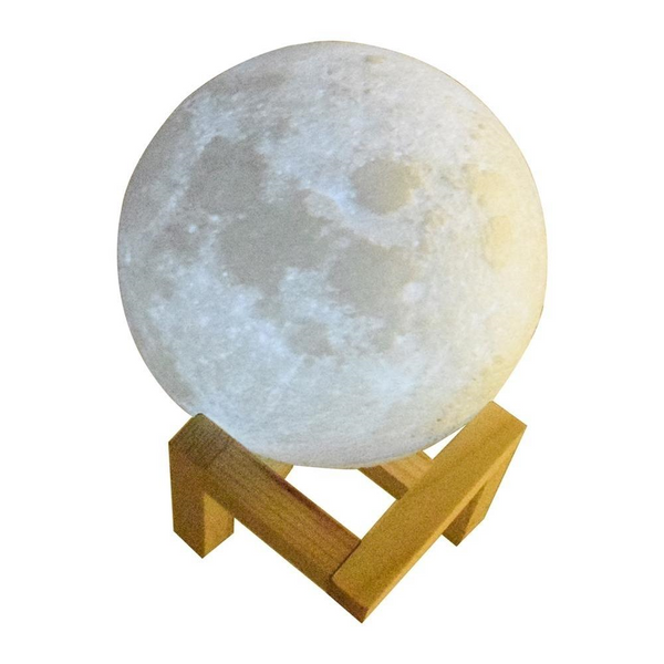 3D LED Moon Lamp when not powered on