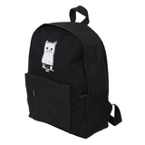 Canvas Cat Print Backpack from the side
