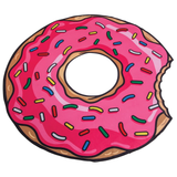 Doughnut Beach Towel