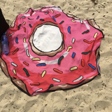 Doughnut Towel on the Beach
