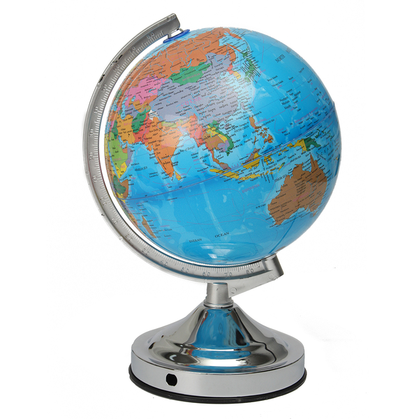 Illuminating and Rotating Globe