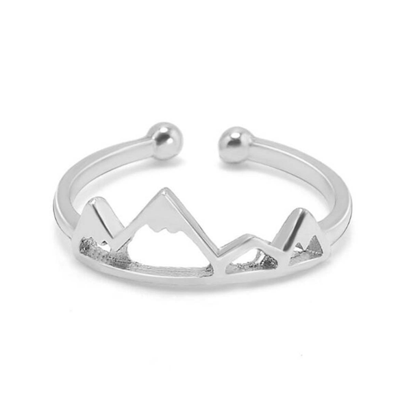Mountain Range Ring in the colour Silver