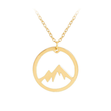 Mountain Top Necklace in the colour Gold