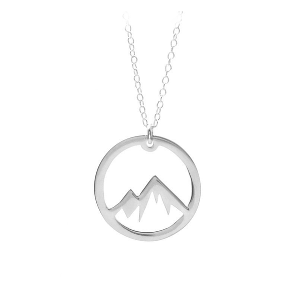 Mountain Top Necklace in the colour Silver