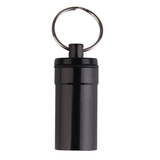 Travel Capsule Keyring in the colour Black