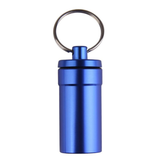 Travel Capsule Keyring in the colour Blue