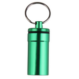 Travel Capsule Keyring in the colour Green
