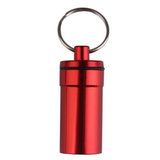 Travel Capsule Keyring in the colour Red