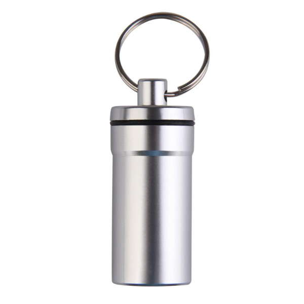 Travel Capsule Keyring in the colour Silver