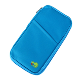 Travel Ticket Organizer in the colour Blue