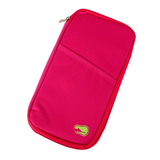 Travel Ticket Organizer in the colour Hot Pink
