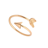 Travellers Arrow Ring in the colour Gold