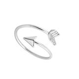 Travellers Arrow Ring in the colour Silver