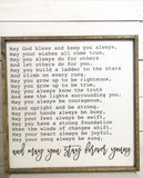 Forever Young Nursery Framed Wood Sign