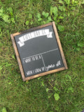 First Day of School Chalkboard Framed Wood Sign