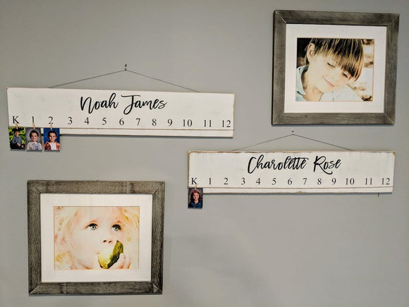 Custom K-12 Pictures Wood Sign