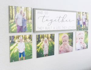 Custom Wood Photo Sign