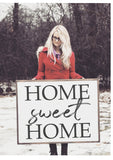 Home Sweet Home Framed Wood Sign