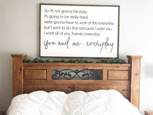 The Notebook Quote Framed Wood Sign