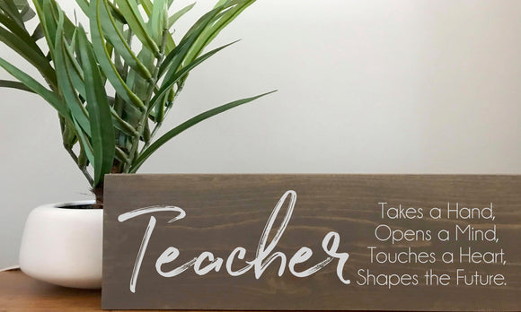 Teacher Definition Gift Sign