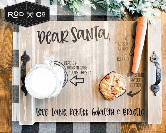 Cookies for Santa Custom Serving Tray