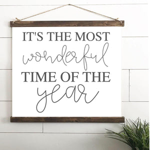Most Wonderful Time of the Year Hanging Canvas Print