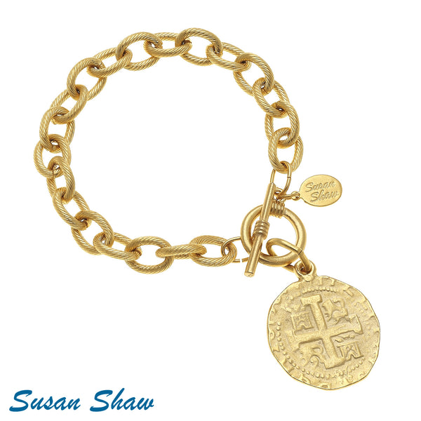 Gold Chain with Gold Coin Drop
