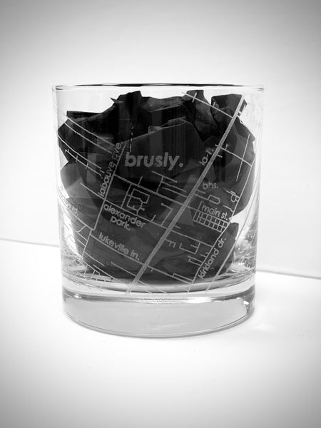 Hometown Maps Whiskey Glass