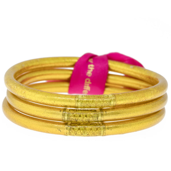 GOLD ALL WEATHER BANGLES® (AWB®) - SERENITY PRAYER
