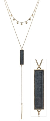 Resin Bar Layered Necklace