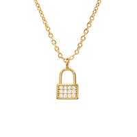 Lock CZ Necklace