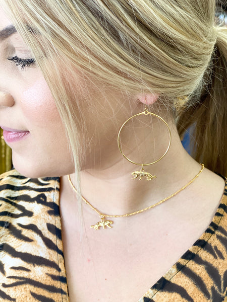 Tiger Hoop Earrings