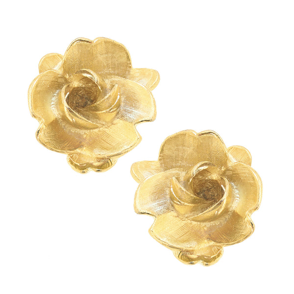 SS Gold Rose Earrings