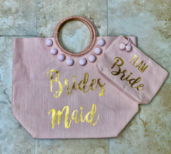 Bridesmaids Tote and Cosmetic Set