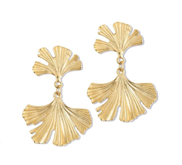 SS Ginkgo Leaf Earrings