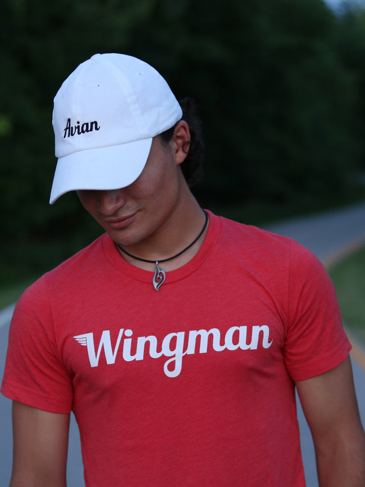 Wingman Tee Red Close Up