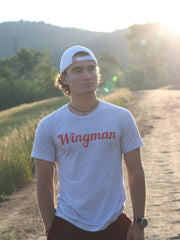 Wingman Tee White Fleck Sun #color_white-fleck-triblend