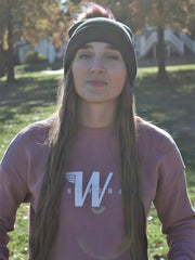 Wingwoman Cropped Crew Mauve Sunny #color_mauve