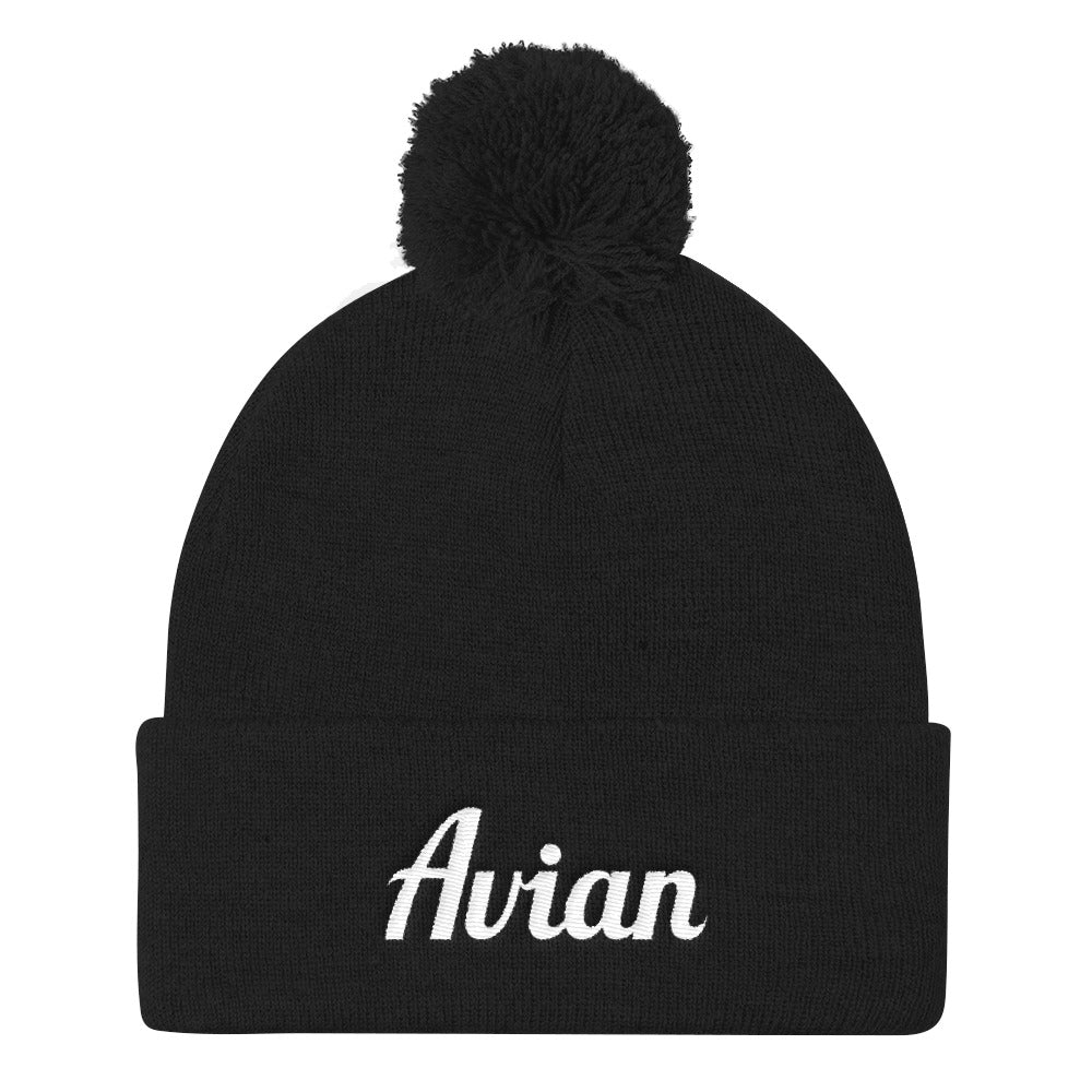 Classic Avian Stocking Cap with Pom Pom