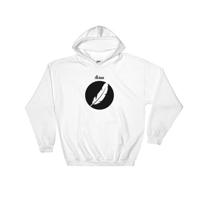 Inverted Feather Logo Hoodie - Avian Apparel #color_white