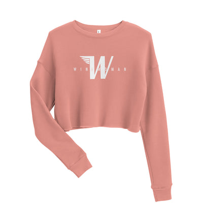 Flying W - Wingwoman Cropped Crew - Avian Apparel #color_mauve