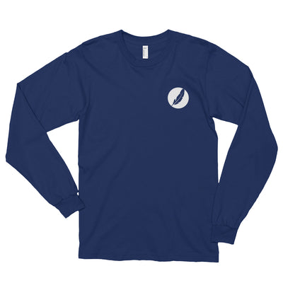 Left Inverted Feather Logo Shirt (Unisex) - Avian Apparel #color_midnight-blue