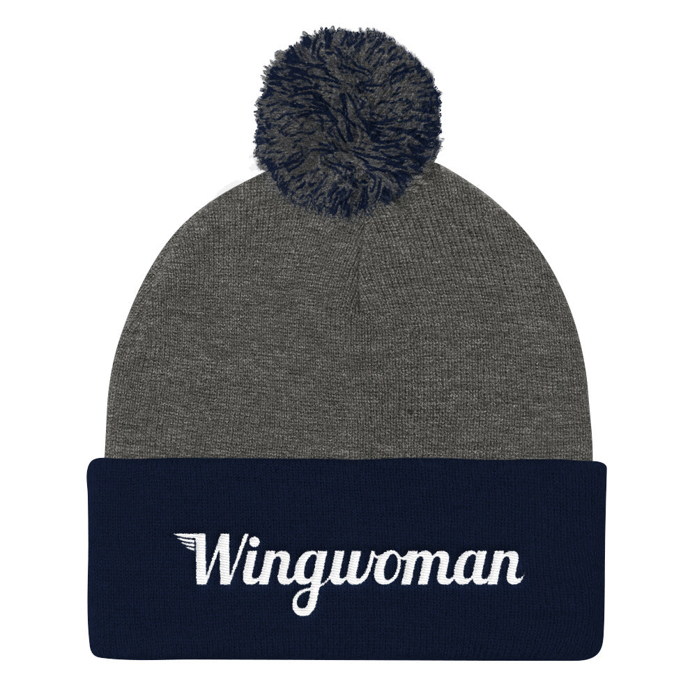 The Wingwoman Stocking Cap with Pom Pom