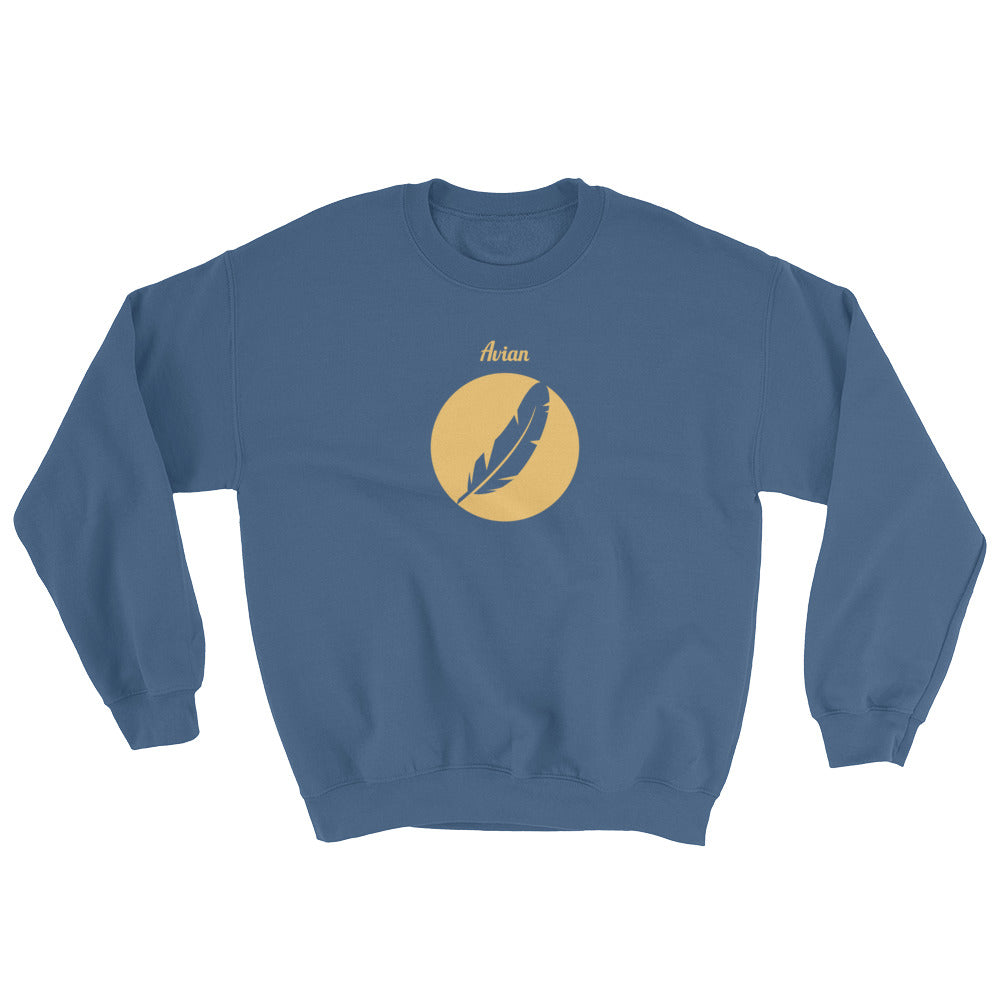 Inverted Feather Logo Crew - Avian Apparel