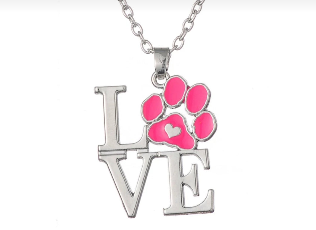 Love Paw Pendant Necklace