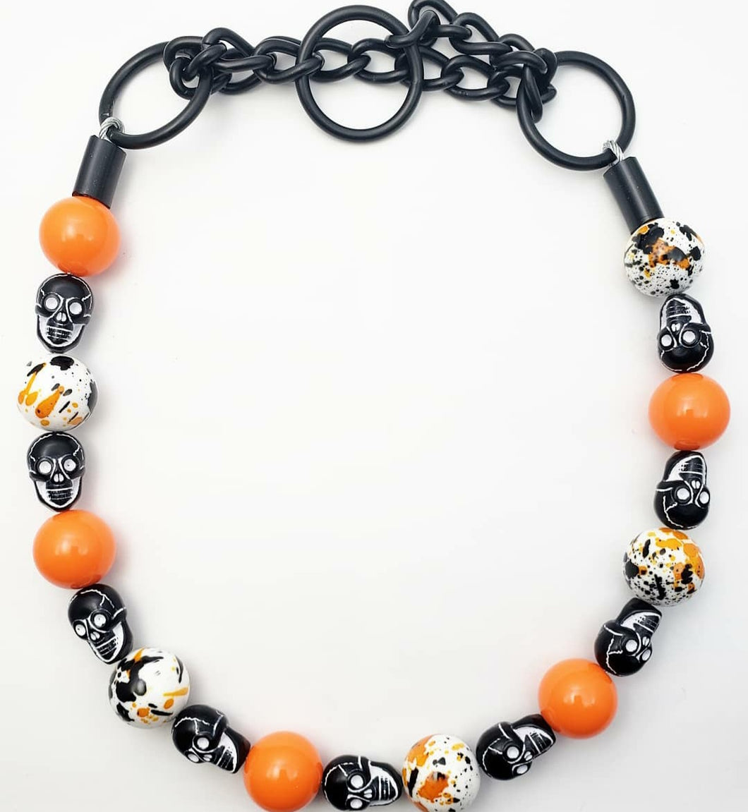 Orange Skull Splatter - Halloween Collection