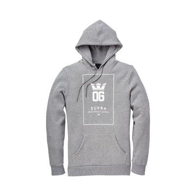 102094-082 | OG INTERNATIONAL PULLOVER HD FLEECE | GREY HEATHER/WHITE