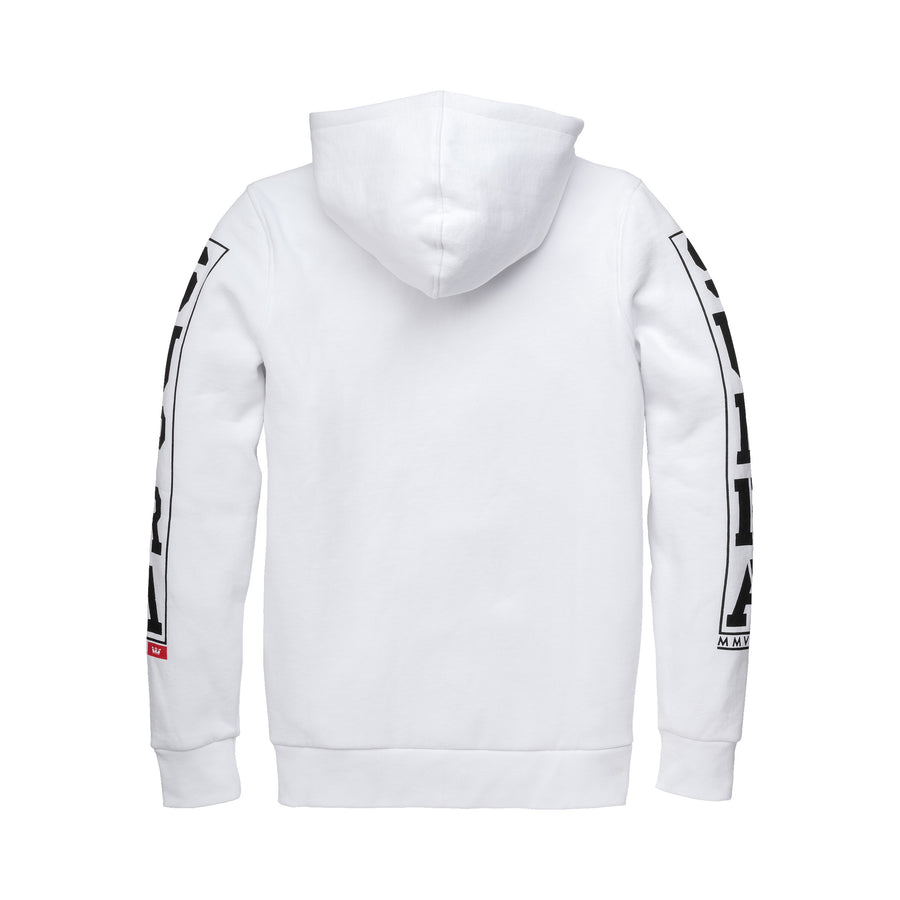 102095-104 | CROWN JEWEL PULLOVER HD FLEECE | WHITE/BLACK/RED