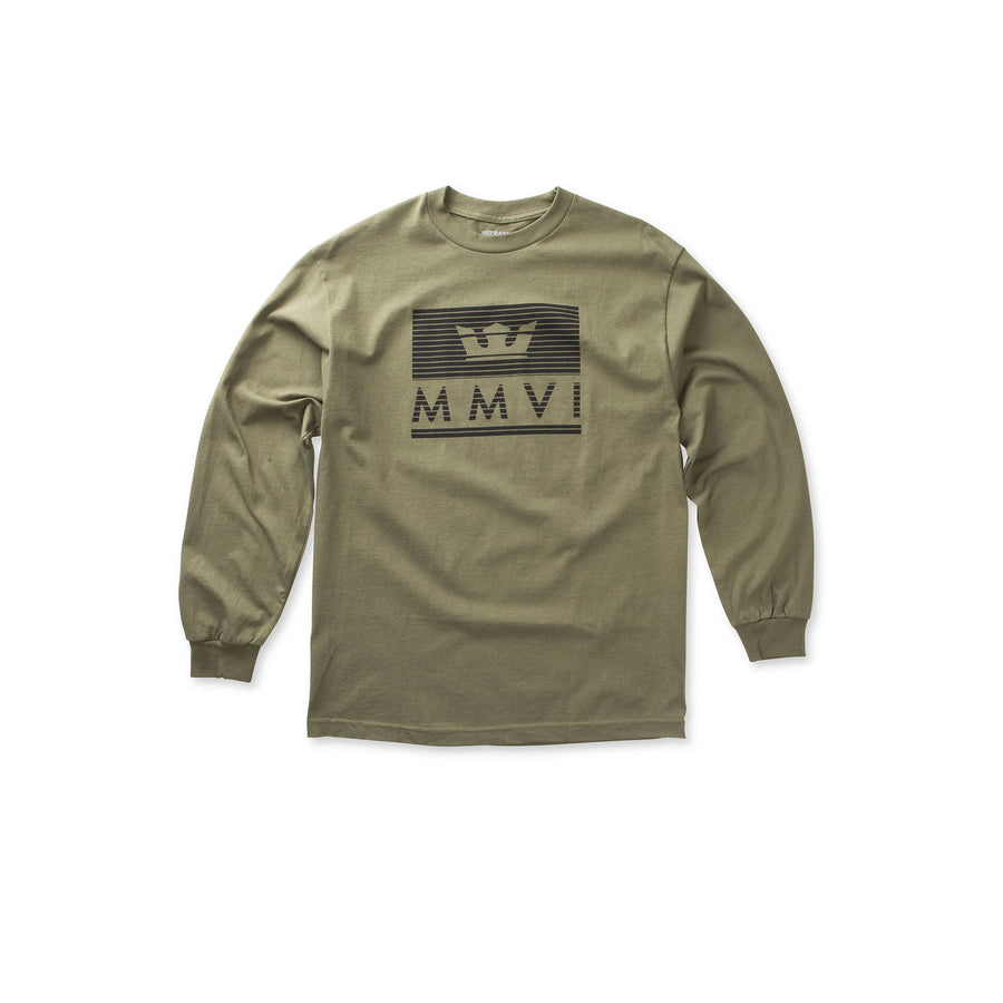 102098-382 | CROWN JEWEL LONG SLEEVE | OLIVE/BLACK