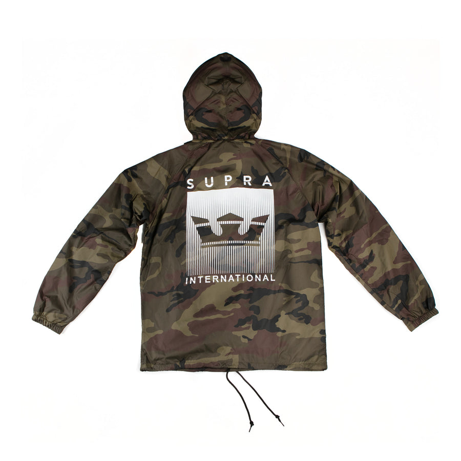 102142-979 | CROWN FADE HOODED COACHES JACKET | CAMO-CAMO